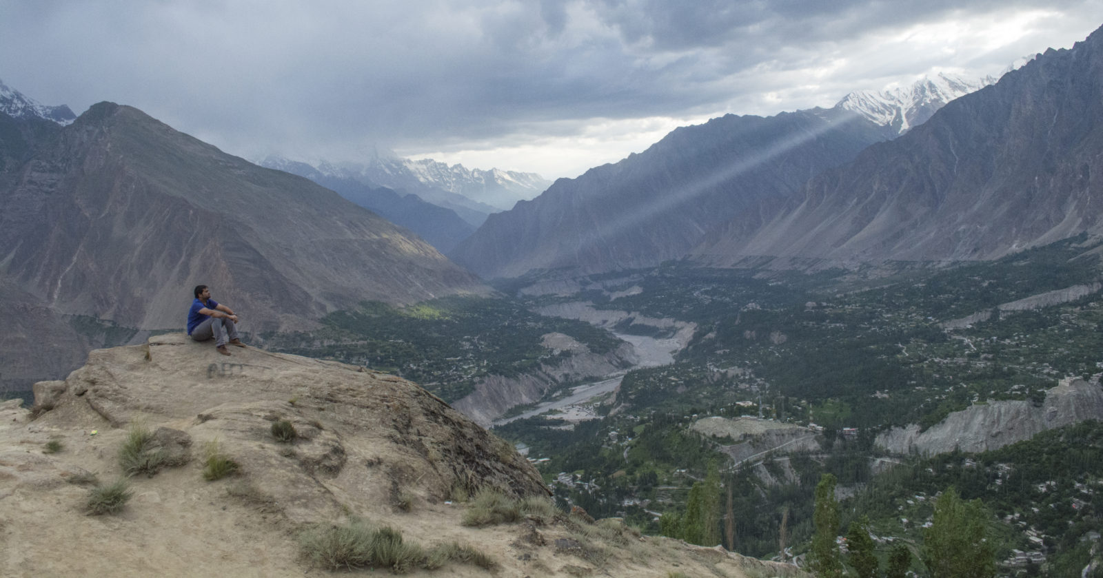Eagle view of Hunza