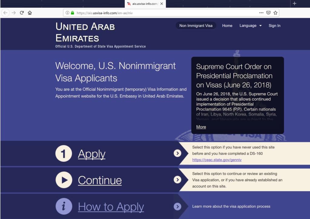 Getting a US Visa in Dubai -