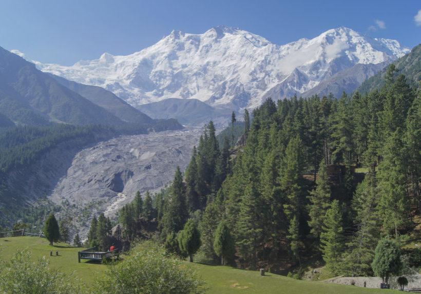 View of Nanga Parbat from Fairy Meadows